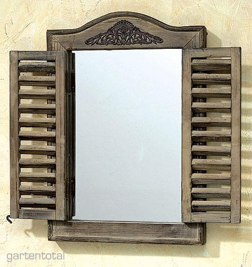 Rustikaler spiegel holz fensterlden natur landhausstil of 3386 - Rustikaler spiegel ...
