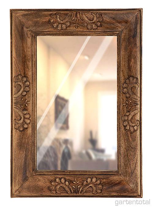 Rustikaler spiegel barock mit holzrahmen verzierung of for Rustikaler spiegel