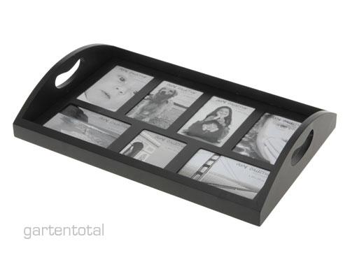 Modernes designer foto servier tablett holz schwarz