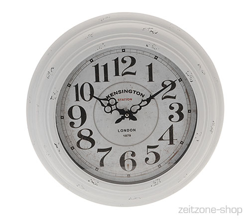 grosse wanduhr kensington london metall 43cm ebay. Black Bedroom Furniture Sets. Home Design Ideas