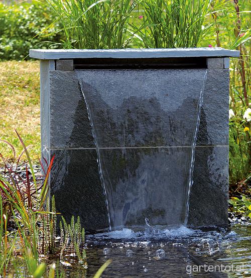 Oase waterfall 60 wasserfall edelstahl for Wasserfall teich