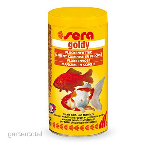 Sera goldy fischfutter flockenfutter goldfische 1000 ml of for Fischfutter goldfische teich