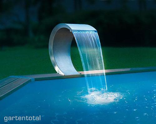 Ubbink mamba led wasserfall element edelstahl 54cm kaufen for Wasserfall mamba